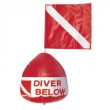 Буй с флагом Diver Below