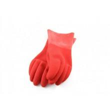 Перчатки резиновые HD, красные.